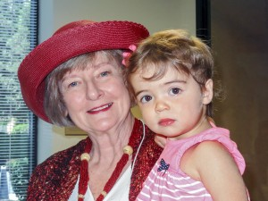 Incoming president Nancy McCabe & her granddaughter.