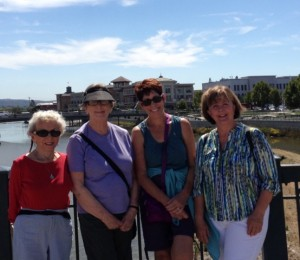 The Walk-to-Lunch group enjoyed a 5-mile hike along a tidal marsh and the Napa River on September 10.