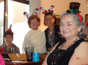 All dressed for board games fun! Dawn Boyd, Lisa Carpenter, Nanette Ng, Alice Bauer