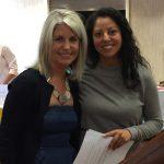Melanie Mahnke Kirrene & Scholarship winner Christine Ibarra