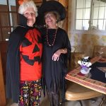 Anne Rhodes & Lisa Carpenter at Halloween Scrabble